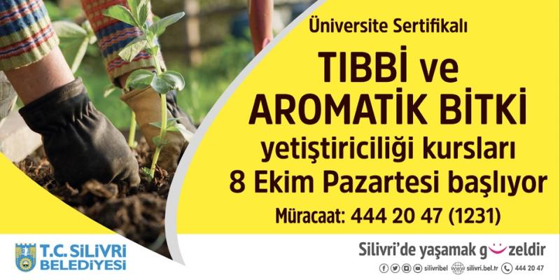 Silivri'de  Tıbbi ve Aromatik bitki yetiştiriciliği kursu