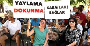 Yaylada 'Kömür' protestosu