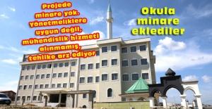Okulda minareye yıkım kararı