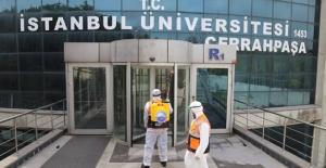 Büyükçekmece'de üniversiteler dezenfekte...