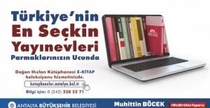 Antalya Büyükşehir'den E-Kitap hizmetine devam