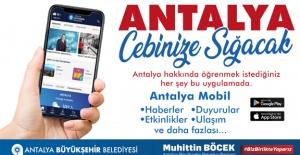 Antalya mobil ile Antalya artık 'cep'lerde