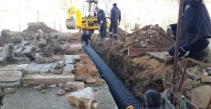 İbradı'da yağmur suyu sorun çözüldü