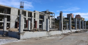 Serik Kültür Merkezi inşaatı hızla...