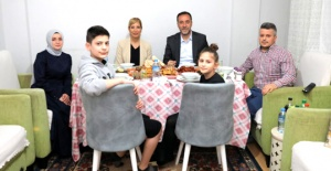 Yılmaz, Alagöz ailesine misafir oldu