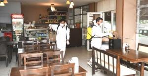 Esenyurt'ta toplu kullanım alanlarına dezenfekte
