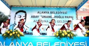 Kunanbayoğlu Parkı kazak danslarıyla açıldı