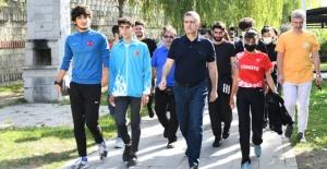 Esenyurt'ta 'Avrupa hareketlilik haftası' yürüşüyü