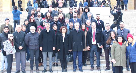 TURAN HANÇERLİ ANITKABİR'İ ZİYARET ETTİ