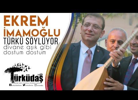 İmamoğlu türkü söylüyor